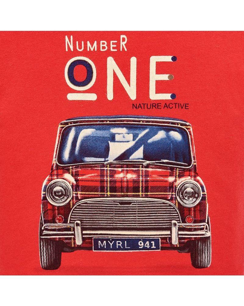 Mayoral Baby Jungen Langarmshirt Mini Auto in rot – Bild 3