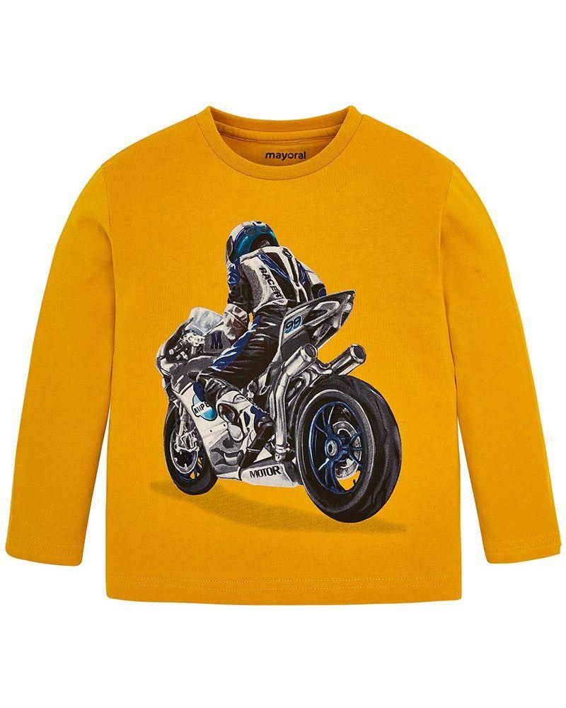 Mayoral Jungen Langarmshirt Longsleeve Motorrad honey