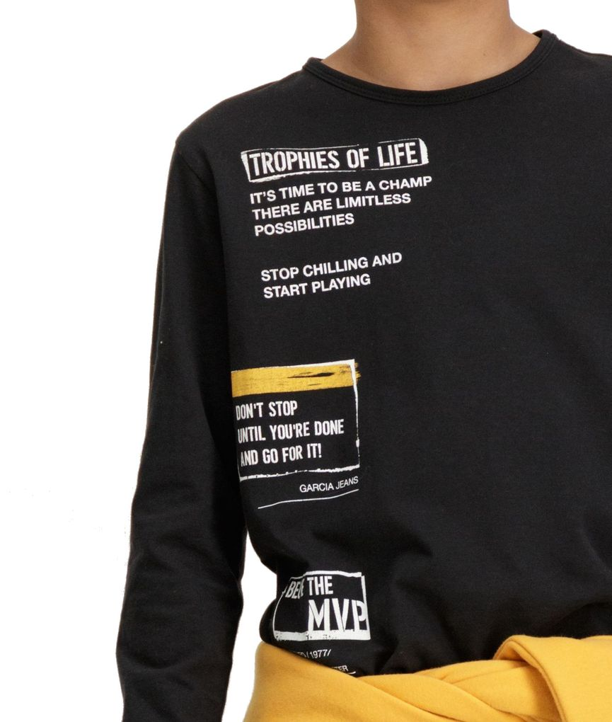 Garcia Jungen Langarmshirt trophies of life in raw black – Bild 3