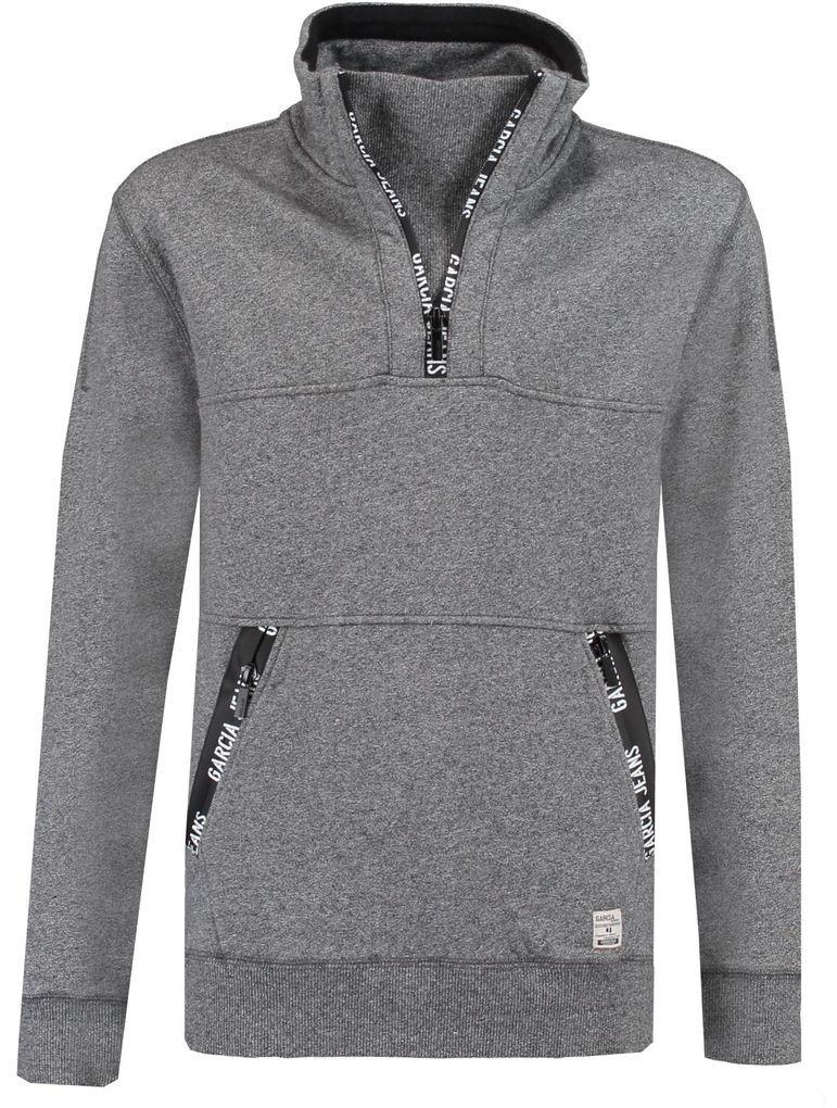 Garcia Jungen Sweater angeraut grey melee