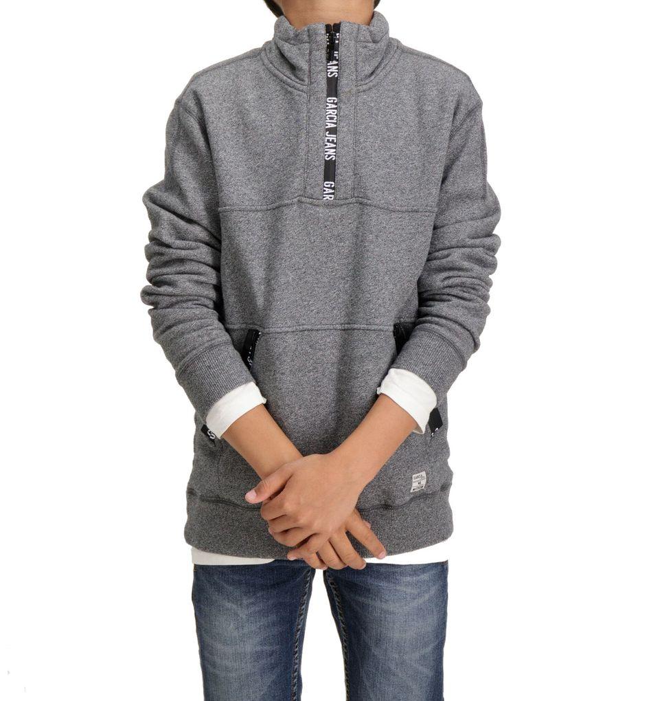 Garcia Jungen Sweater angeraut grey melee – Bild 2