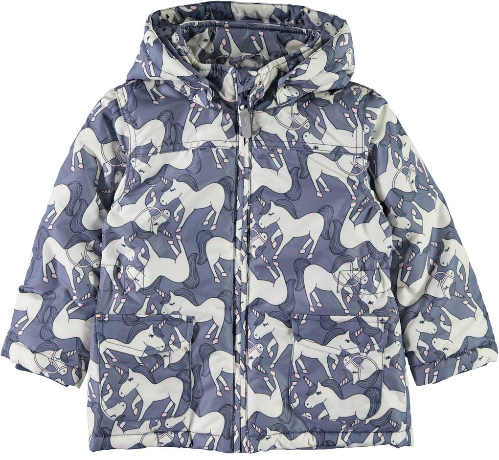 Name it Mädchen Winterjacke Anorak Einhorn Nmfmello Unicorn