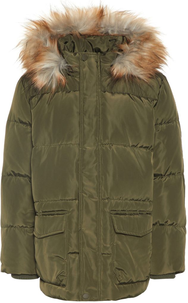 Name it Jungen Daunenjacke Winterjacke NKMMARKOS forest night – Bild 1