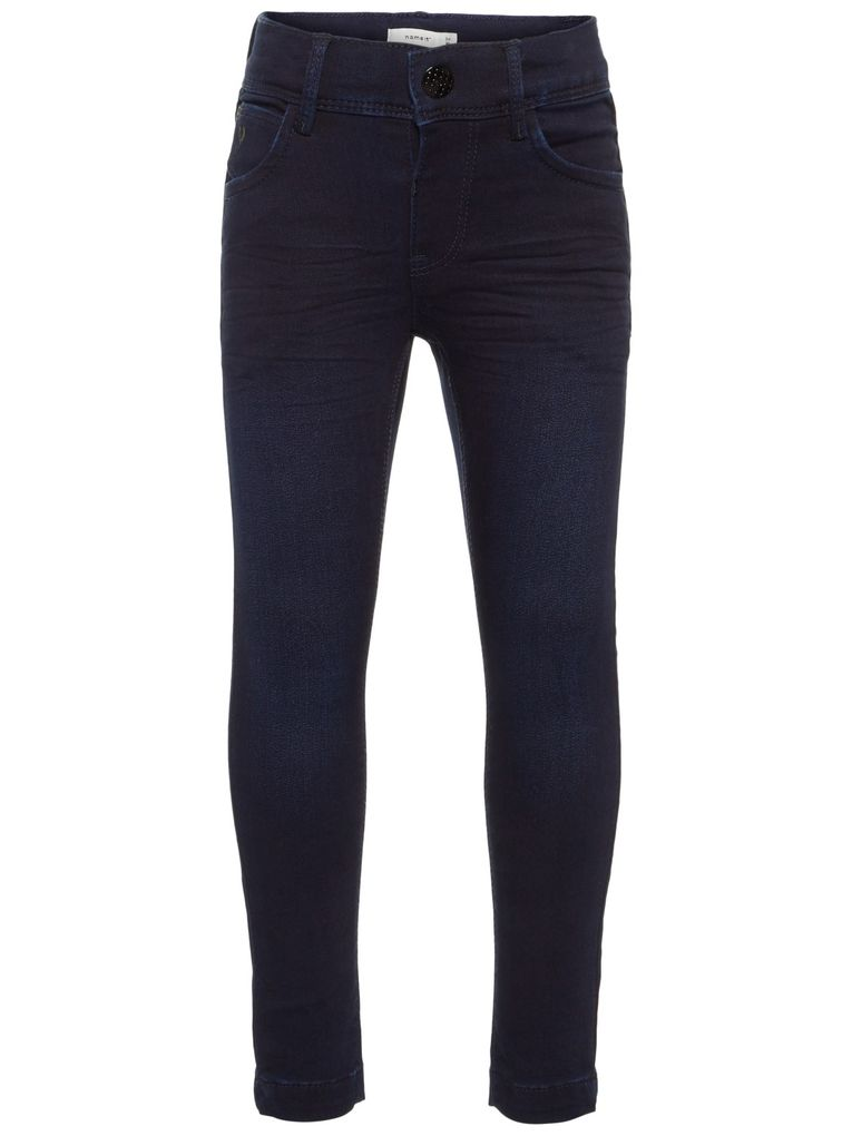 Name it Mädchen Skinny Jeans NKFPolly dark blue denim