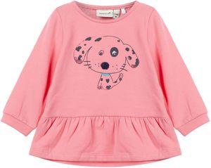 Name it Baby Mädchen Sweatshirt Tunika angeraut bubblegum NBFNESSIE