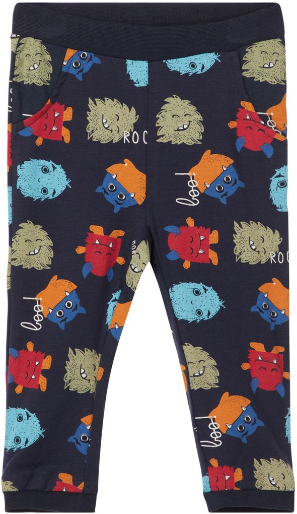 Name it Baby Jungen Jogginghose NBMOLSO Monster dunkelblau