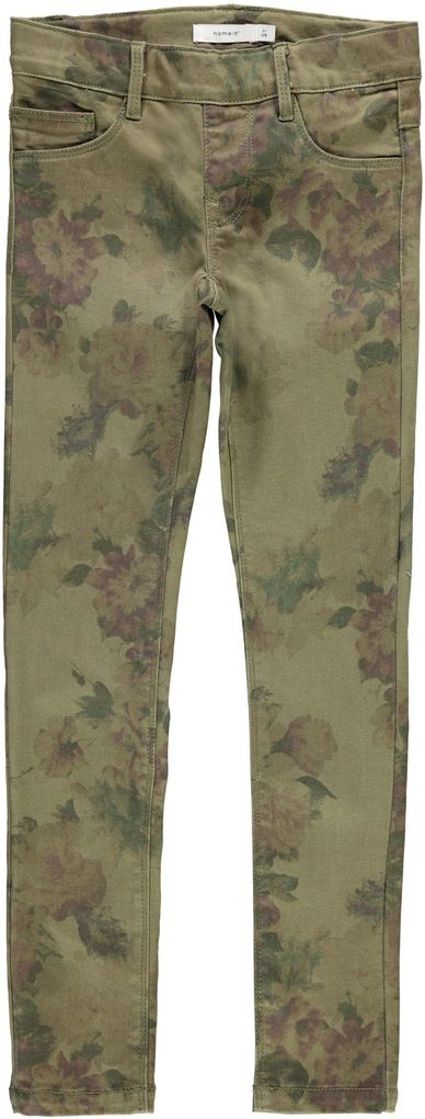 Name it Mädchen Twill Leggings Jeggings Army Style NKFPOLLY