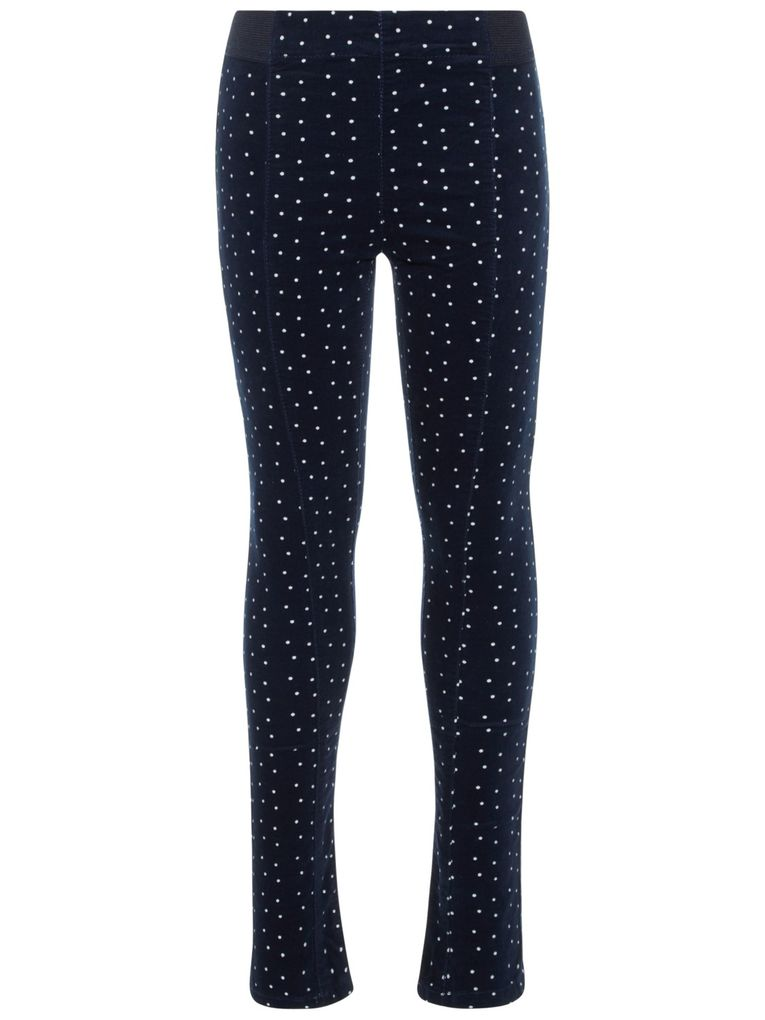 Name It Mädchen Leggings Cord dunkelblau gepunktet NKFPOLLY
