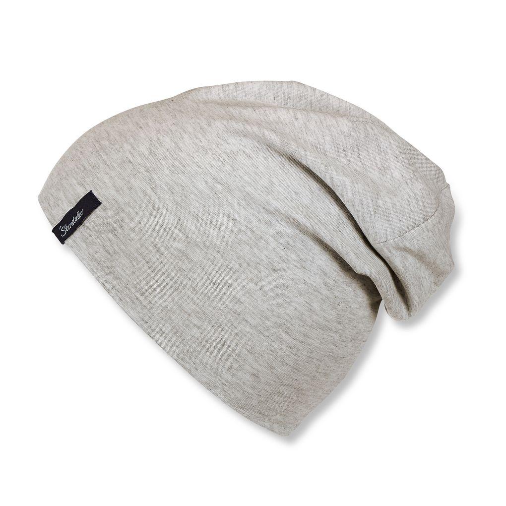 Sterntaler Kinder Jersey Slouch-Beanie Mütze unifarben grau – Bild 1