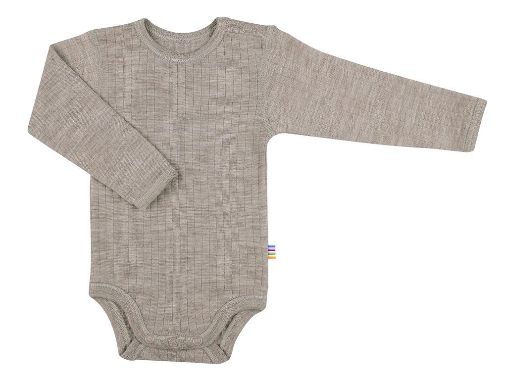 Joha Baby Unisex Body langarm reine Merino-Wolle – Bild 1