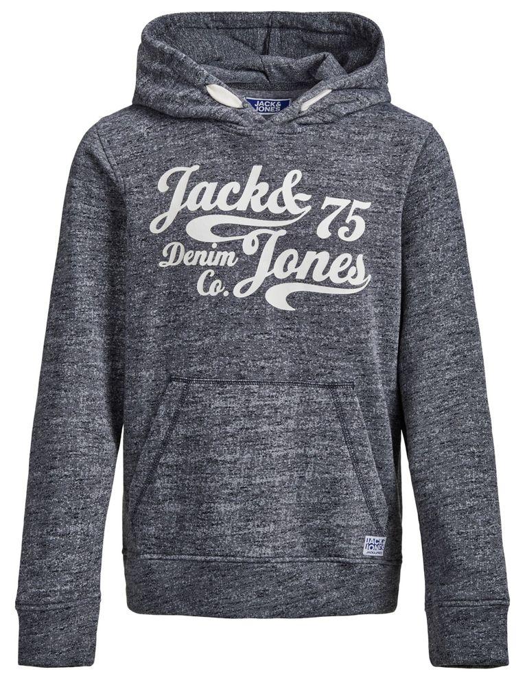 Jack&Jones Jungen Hoodie Kapuzen-Sweatshirt angeraut in navy