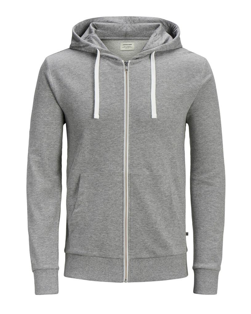 Jack&Jones Jungen Hoodie mit Kapuze Sweatjacke in light grey
