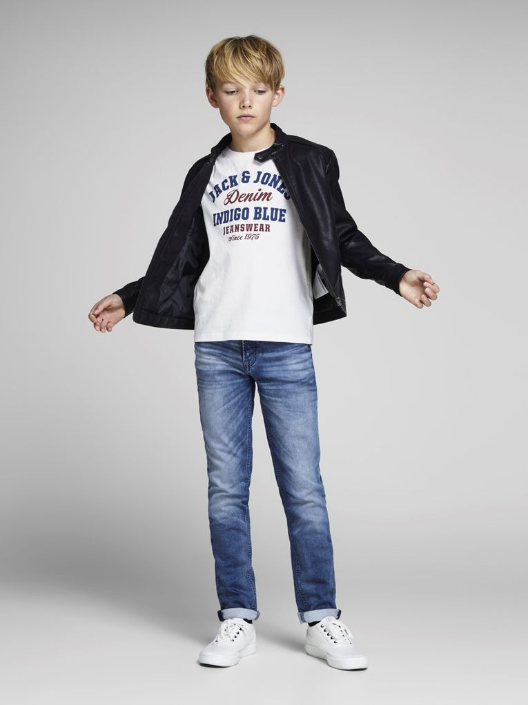 Jack&Jones Jungen T-Shirt kurzarm Logo-Print Shirt in cloud dancer – Bild 6