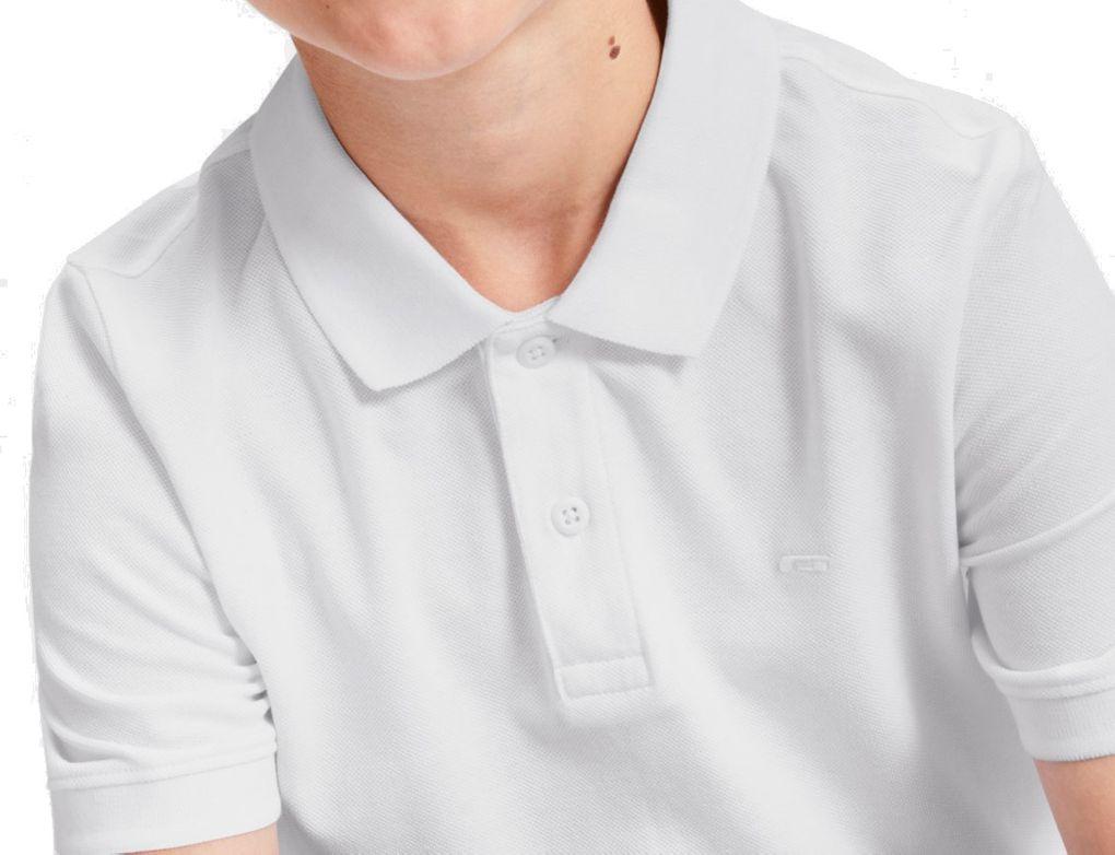 Jack&Jones Junior Jungen Poloshirt kurzarm Basic unifarben weiß – Bild 3