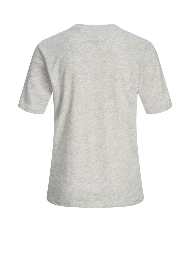 Jack&Jones Jungen T-Shirt kurzarm Logo-Print Shirt white melange – Bild 2