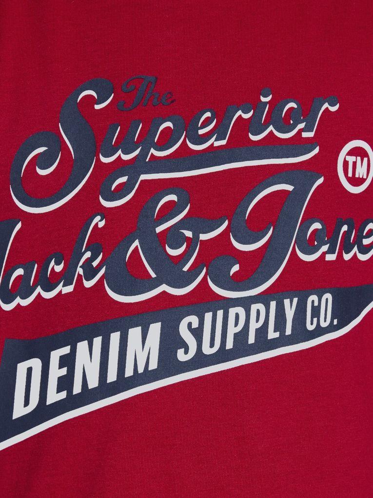 Jack&Jones Jungen T-Shirt kurzarm Logo-Print Shirt in tango red – Bild 3