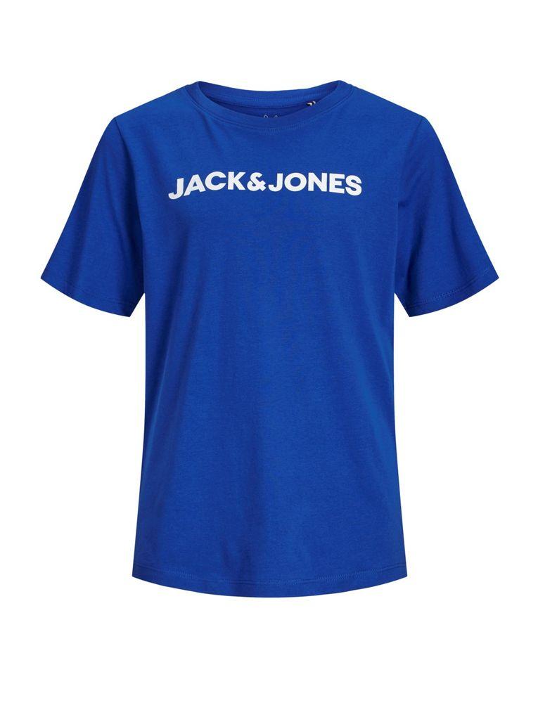 Jack&Jones Jungen T-Shirt kurzarm  Logo-Print Shirt blau