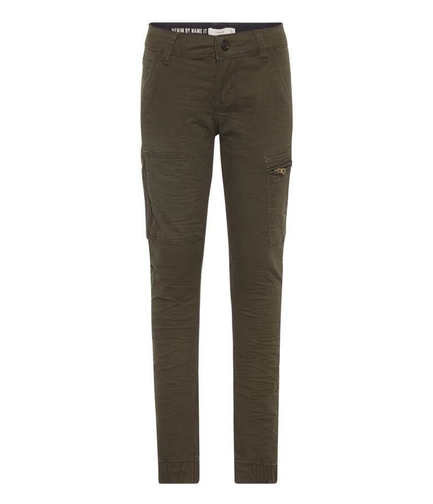 Name it Jungen Cargo-Hose Military Style NKMROMEO regular in forest night
