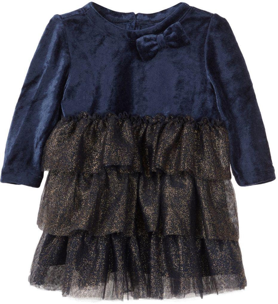 Name it Baby Mädchen Kleid festlich mit Tüllrock NBFSANDRA dunkelblau – Bild 1