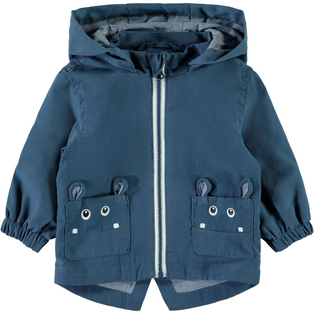 Name it Baby Jungen Übergangsjacke mit Kapuze NBMMATE in dark denim