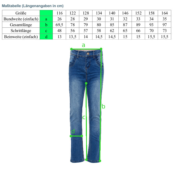 Name it Mädchen Jeans Hose Super Denim Stretch NKFBECKY medium blue denim – Bild 5