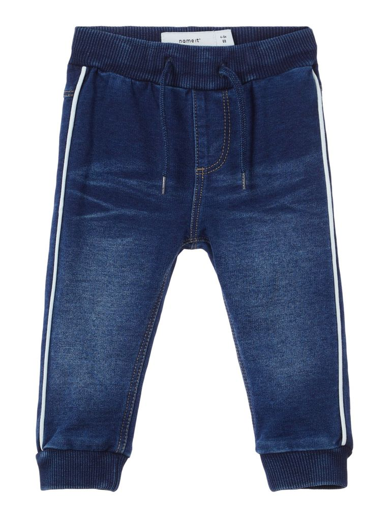 Name it Baby Jungen Jeans Hose Sweatdenim Joggbund NBMROMEO dark blue denim – Bild 1