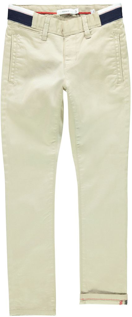 Name it Jungen Chino-Hose NKMSILAS slim fit white pepper
