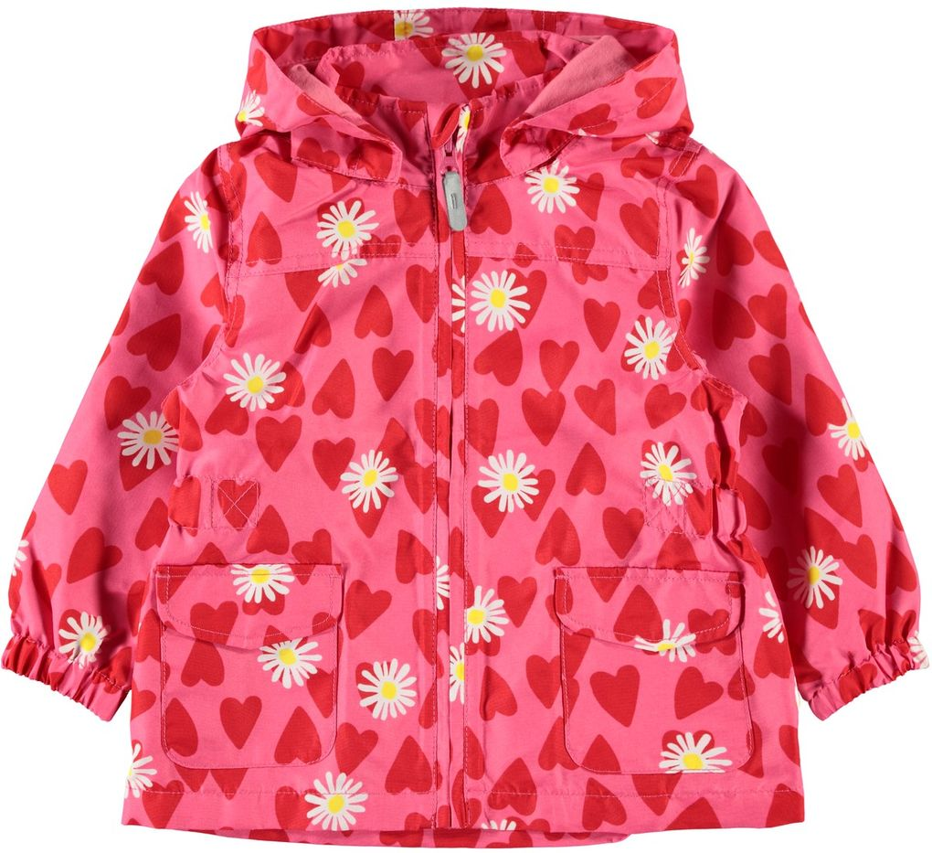 Name it Mädchen Übergangsjacke Regenjacke Hearts NMFMello pink lemonade