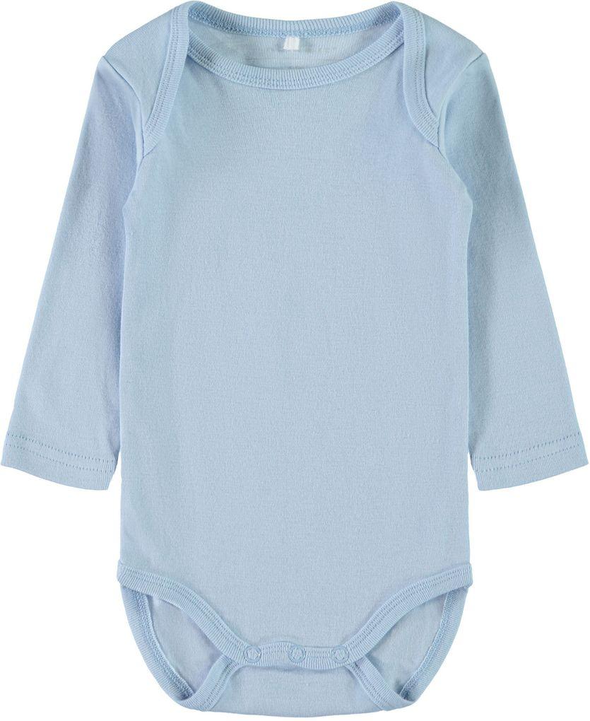 Name it Baby Jungen Langarmbody 3er Pack Baumwolle NBMBODY cashmere blue – Bild 2