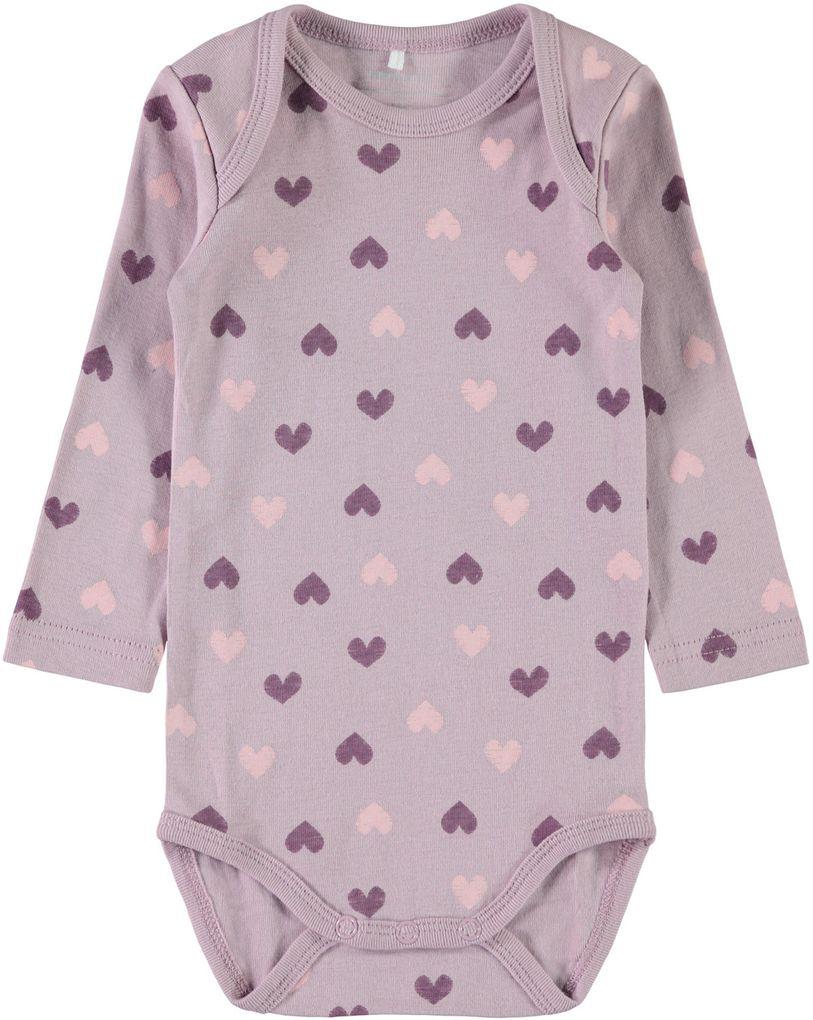 Name it Baby Mädchen Langarmbody 3er Pack Baumwolle NBFBODY dawn pink – Bild 2