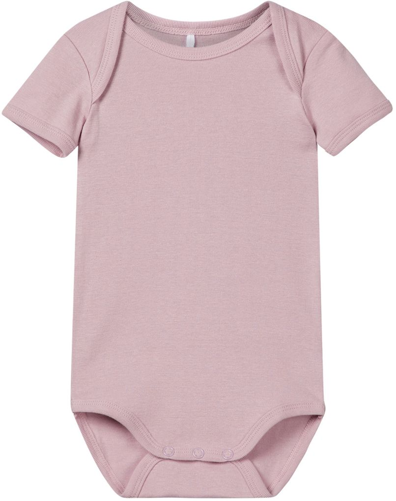 Name it Baby Mädchen Body 3er Pack kurzarm Baumwolle NBFBODY dawn pink – Bild 3