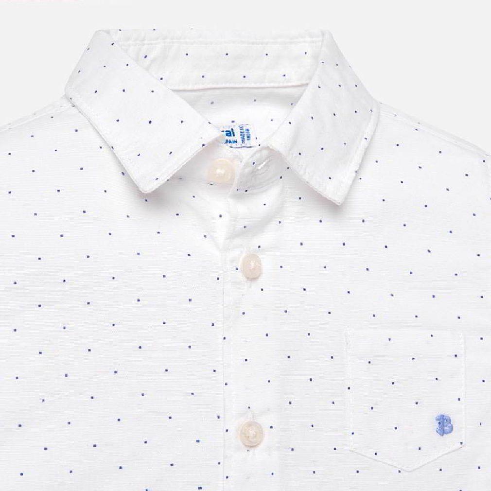 Mayoral Baby Jungen Anzug-Hemd festlich langarm gepunktet weiß – Bild 3