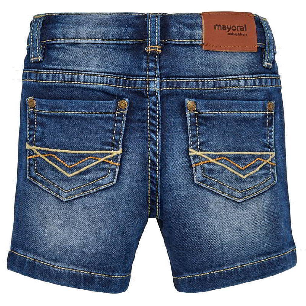 Mayoral Baby Jungen Jeans-Shorts kurze Hose Bermuda in blau – Bild 2