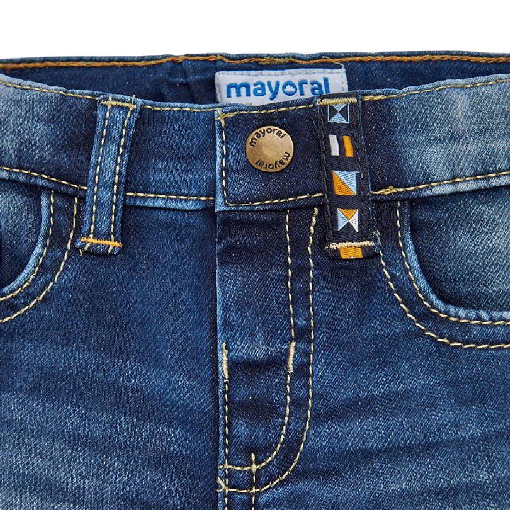 Mayoral Baby Jungen Jeans-Shorts kurze Hose Bermuda in blau – Bild 3