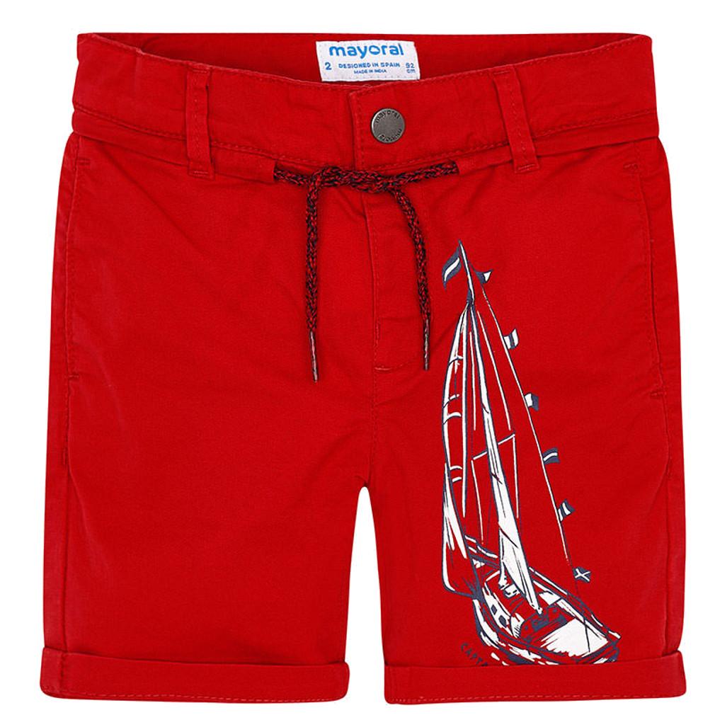 Mayoral Jungen Shorts mit Segelbootprint kurze Hose – Bild 1