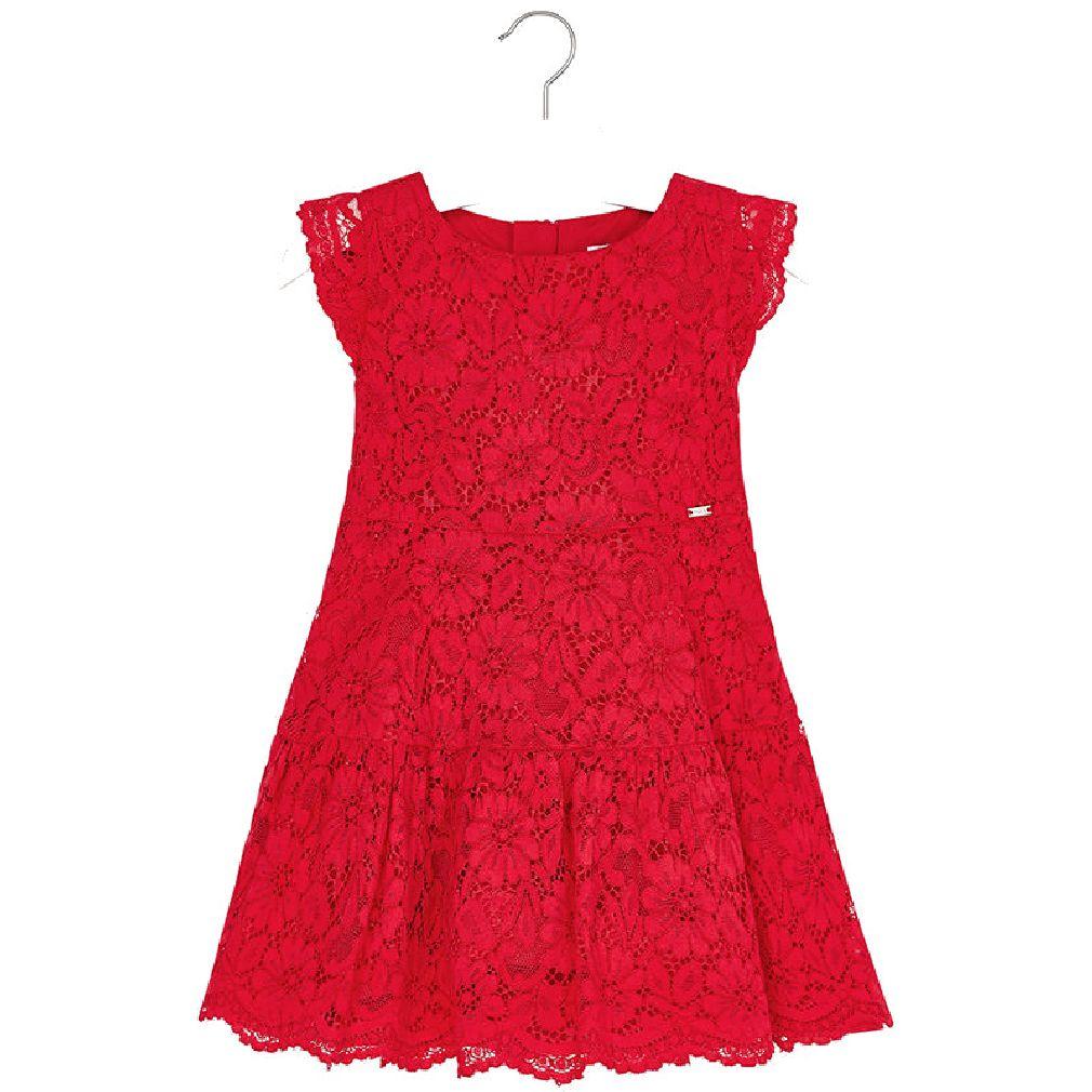 Kleid rot mit spitze