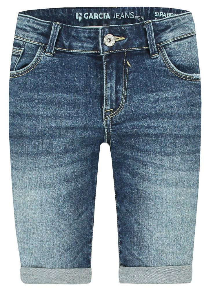 Garcia Mädchen Jeans-Bermuda Sara Skinny slim fit Denim Shorts in medium used – Bild 1