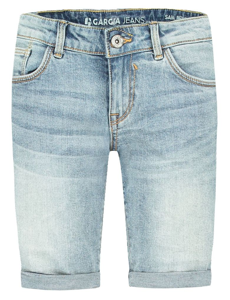 Garcia Mädchen Jeans-Bermuda Sara Skinny slim fit Denim Shorts in light used – Bild 1
