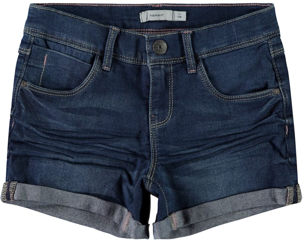 Name it Mädchen Jeans-Shorts slim fit NKFSalli denim – Bild 1