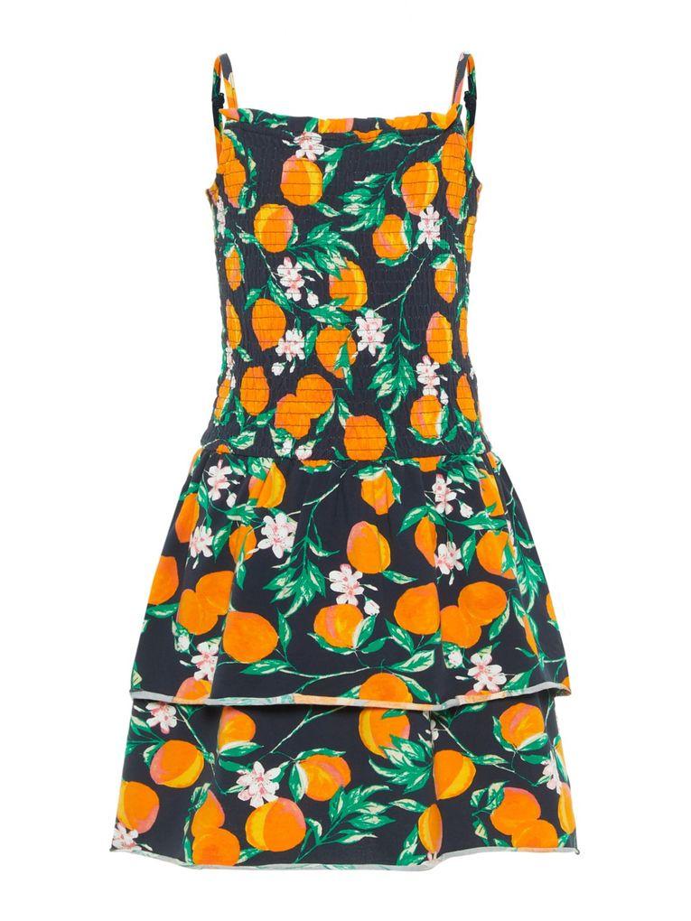 Name it Mädchen Sommer-Kleid Trägerkleid gesmokt NKFfie – Bild 2