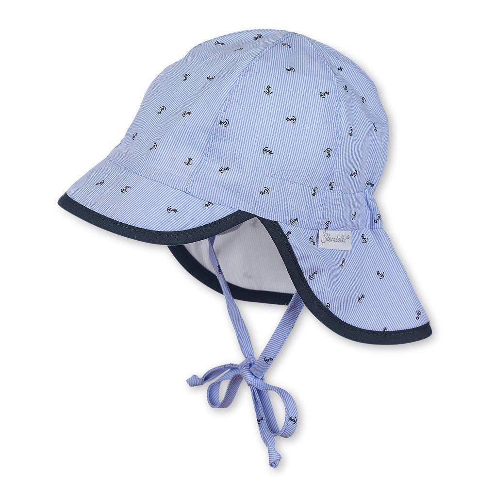 Sterntaler Baby Jungen Sommer Schirmmütze mit Nackenschutz UV Schutz 50+