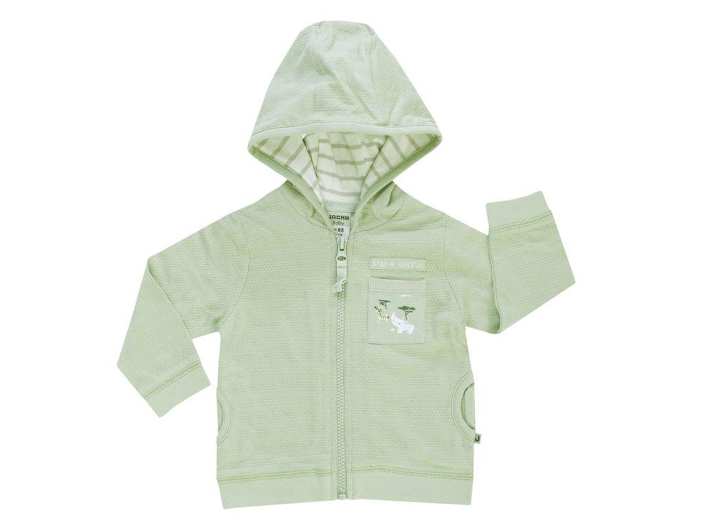 Jacky Baby Jungen Sweatjacke mit Kapuze Adventure Baumwolle