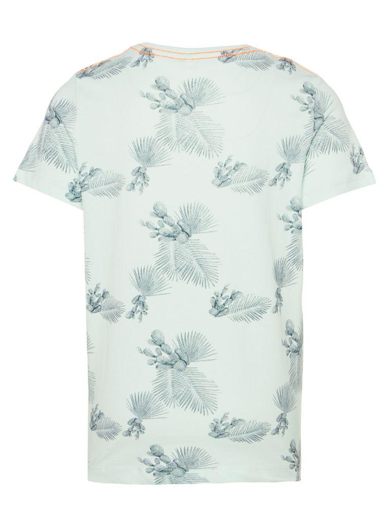 Name it Jungen T-Shirt kurzarm NKMJAMAL Bio-Baumwolle Palmen – Bild 2