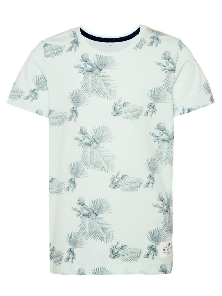 Name it Jungen T-Shirt kurzarm NKMJAMAL Bio-Baumwolle Palmen