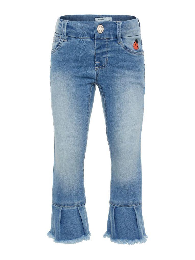 Name it Mädchen Jeans Hose 7/8 Skinny NMFPOLLY light blue denim