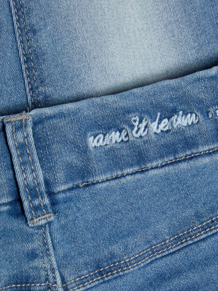 Name it Mädchen Jeans Hose 7/8 Skinny NMFPOLLY light blue denim – Bild 3