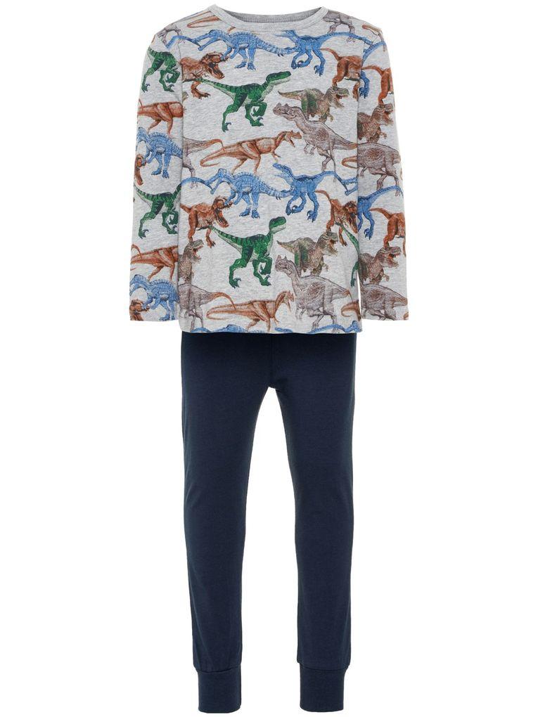 Name it Jungen Schlafanzug lang Pyjama Dinos Jersey NMMnightset