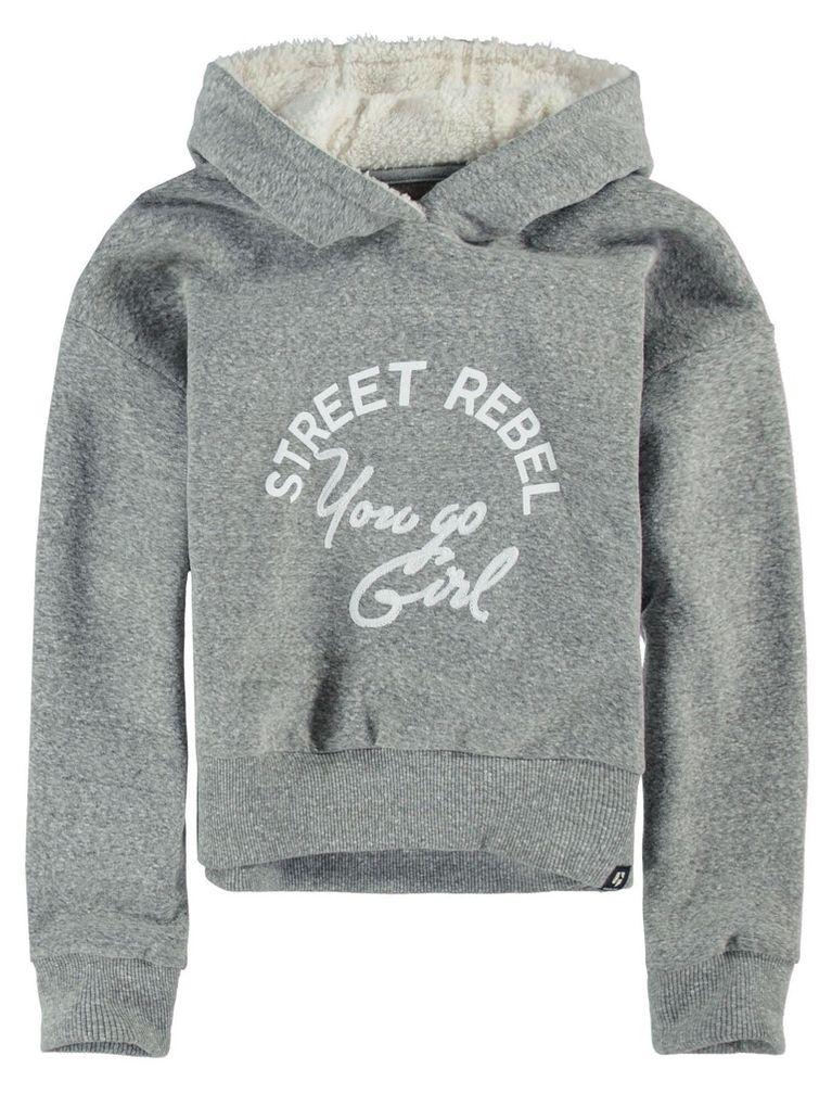 Garcia Mädchen Sweatshirt Kapuze mit Teddyfell Winterpullover – Bild 1
