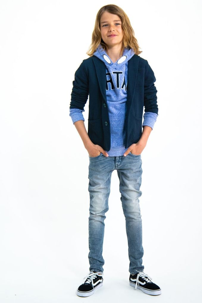Garcia Jungen Sweat-Sakko Anzugjacke Blazerjacke Baumwolle – Bild 5