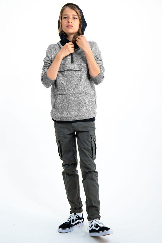 Garcia Jungen Hoodie Baumwolle meliert Kapuzen-Sweatshirt  – Bild 4